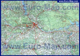 Карта Нижнего Новгорода и области