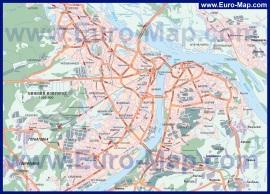 Подробная карта Нижнего Новгорода