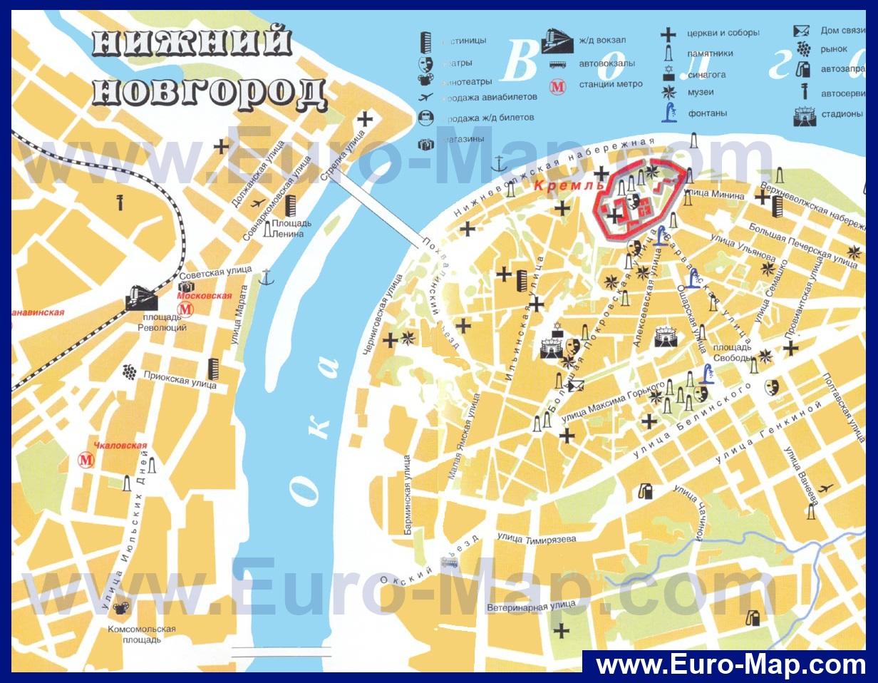 Нижний новгород карта города