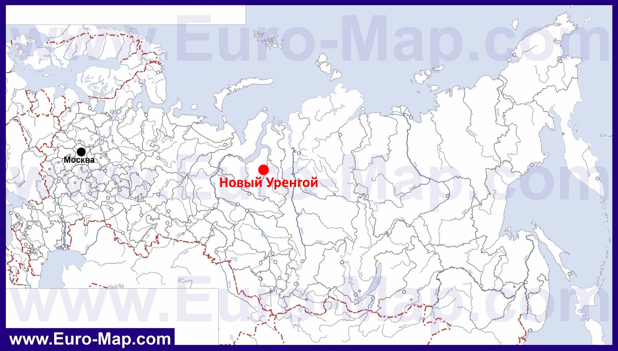 новый уренгой на карте россии фото