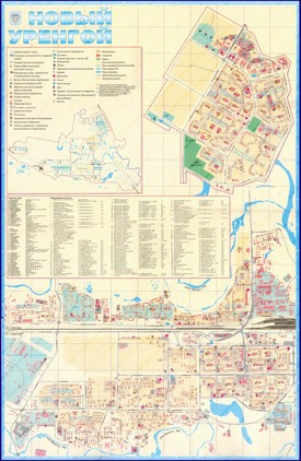 Подробная карта города Новый Уренгой