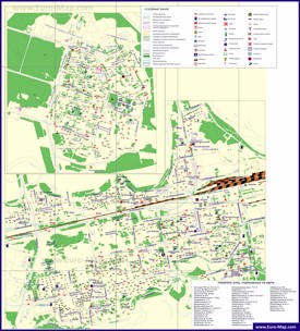 Туристическая карта Нового Уренгоя