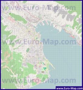 Подробная карта города Новороссийск
