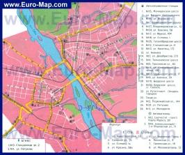 Автомобильная карта дорог Новосибирска