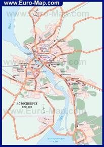 Карта города Новосибирск