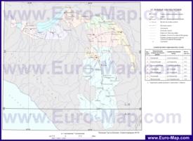 Административная карта районов Адыгеи