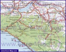 Автомобильная карта дорог Адыгеи