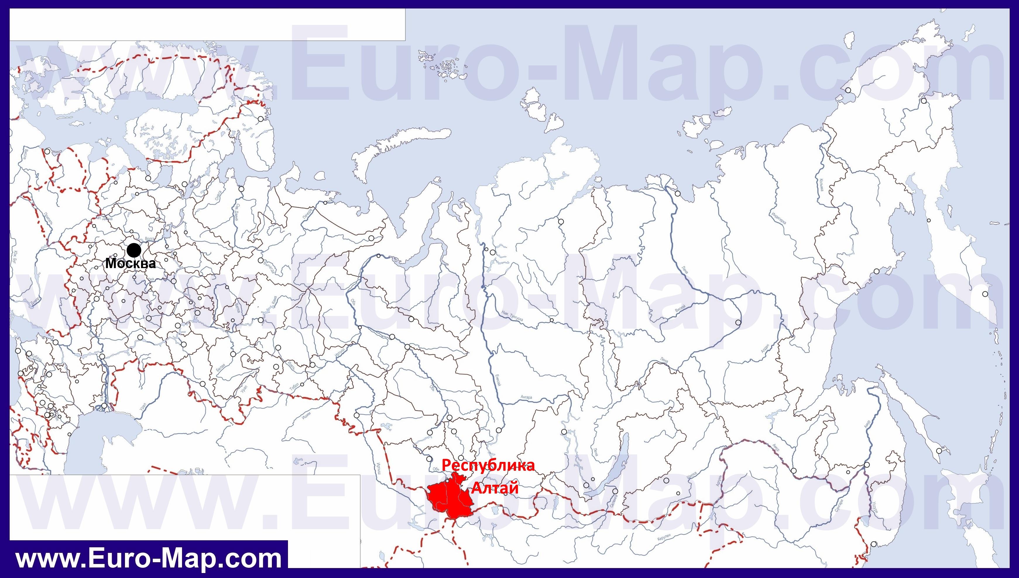 фото алтай на карте россии