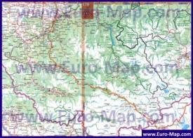 Автомобильная карта дорог Алтая