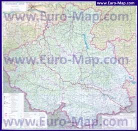 Подробная карта Алтая с городамии озерами