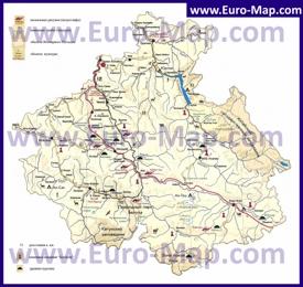 Туристическая карта Алтая с достопримечательностями