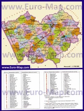 Административная карта районов Алтайского края