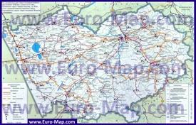 Автомобильная карта дорог Алтайского края