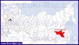 Амурская область на карте России
