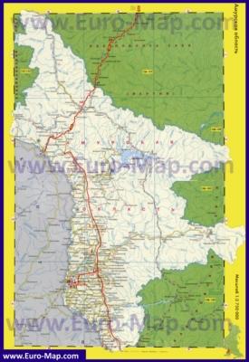Автомобильная карта дорог Амурской области