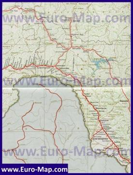 Карта железных дорог Амурской области