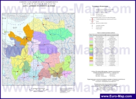 Административная карта районов Архангельской области