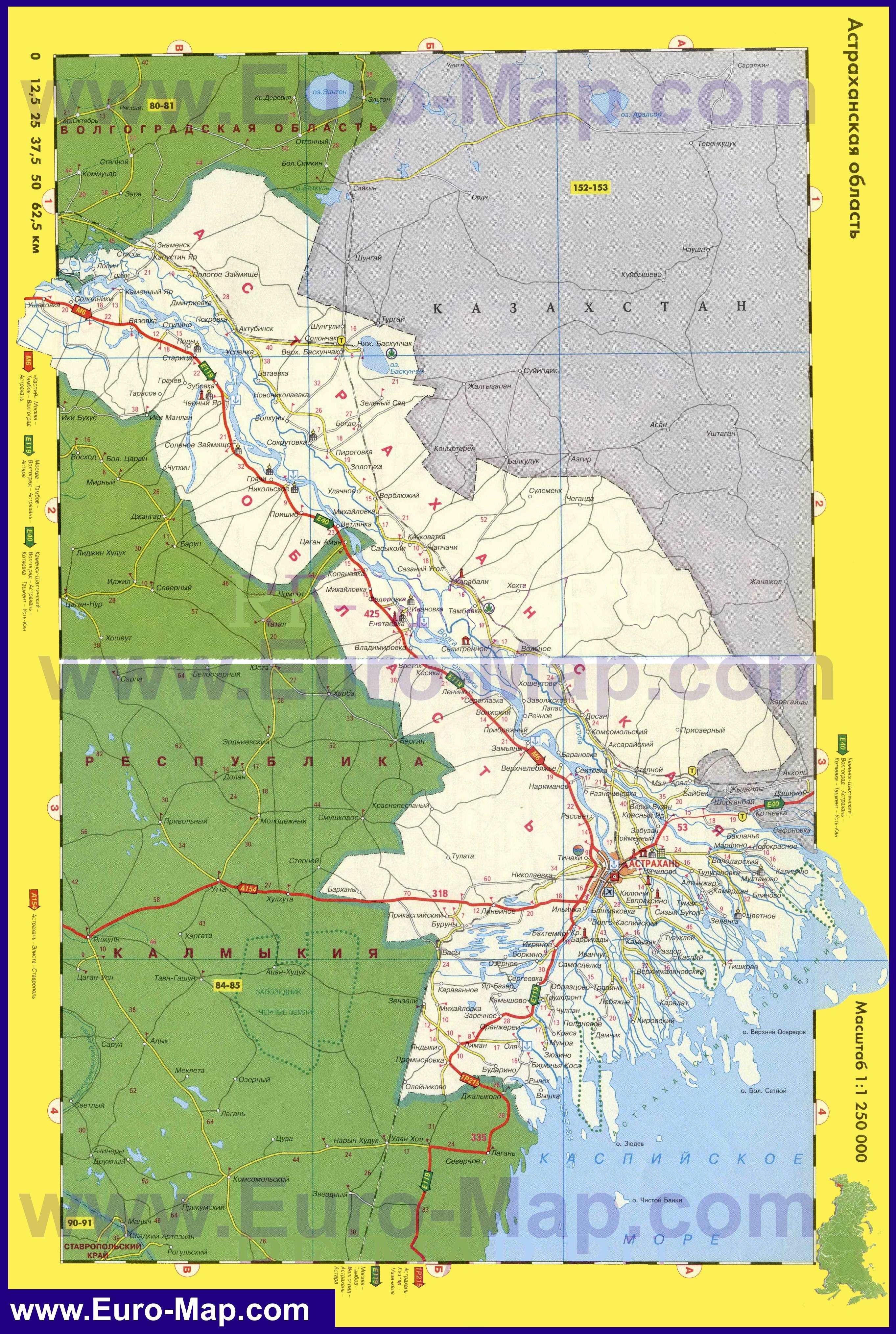 подробная карта астраханской области рыболовная карта