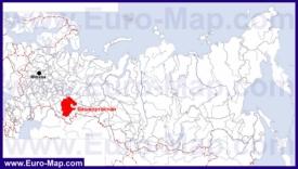 Башкирия на карте России