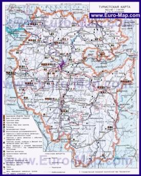Туристическая карта Башкирии с достопримечательностями