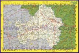 Автомобильная карта дорог Брянской области