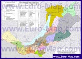 Административная карта районов Бурятии