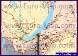 Автомобильная карта дорог Бурятии