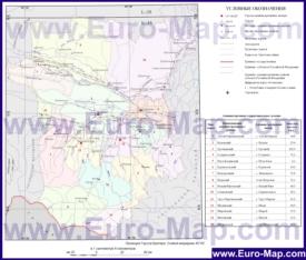 Административная карта районов Чечни