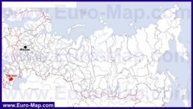 Чечня на карте России