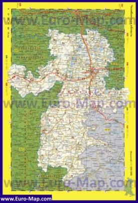 Автомобильная карта дорог Челябинской области