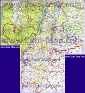 Подробная топографическая карта Челябинской области с озерами