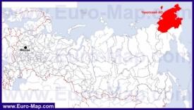 Чукотка на карте России