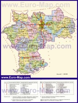 Административная карта районов Чувашии