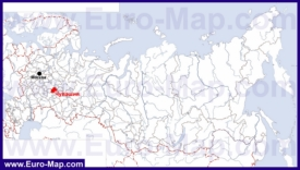 Чувашия на карте России