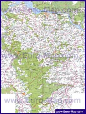 Подробная карта республики Чувашия
