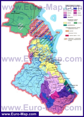 Этнографическая карта народов Дагестана
