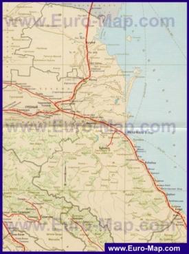 Карта железных дорог Дагестана