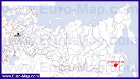 Еврейская АО автономная область на карте России