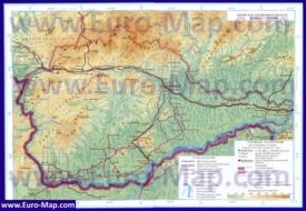 Подробная карта Еврейской автономной области