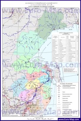 Административная карта районов Хабаровского края