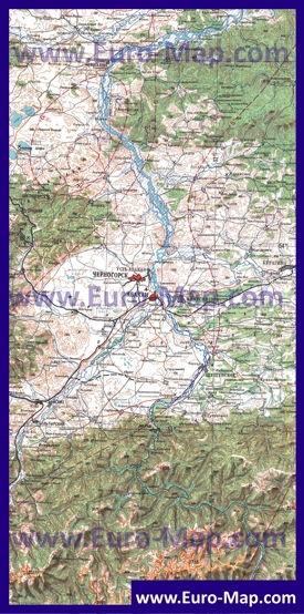 Топографическая карта Хакасии