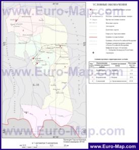 Административная карта районов Ингушетии