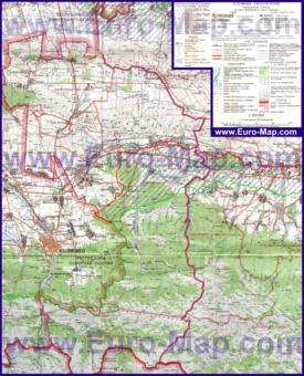Подробная карта Ингушетии