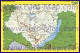Автомобильная карта дорог Иркутской области