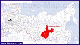 Иркутская область на карте России