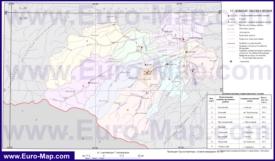 Административная карта районов Кабардино-Балкарии