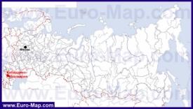 Кабардино-Балкария на карте России