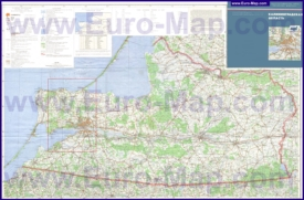 Подробная топографическая карта Калининградской области