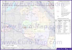Административная карта районов Калмыкии