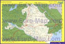 Автомобильная карта дорог Калмыкии